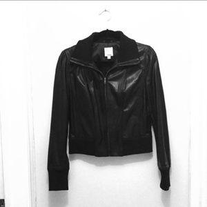 Halogen real leather jacket